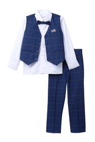 Isaac Mizrahi Multi Plaid Vest Set (Toddler & Litt
