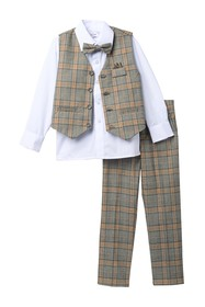 Isaac Mizrahi Multi Check Vest Set (Toddler & Litt