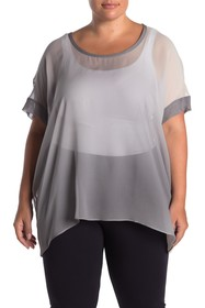 Eileen Fisher Draped Silk Box Top (Plus Size)