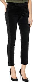J Brand Ruby High-Rise Cigarette in Black Velvet