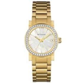 WITTNAUER Wittnauer Womens Crystal Bezel Mother of