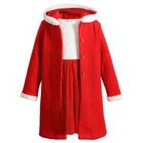 SWEETHEART ROSE Toddler Girls Hooded Quilted Coat