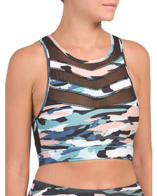 Camo Printed Fast Forward Bra