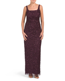 Sleeveless Sequin Gown