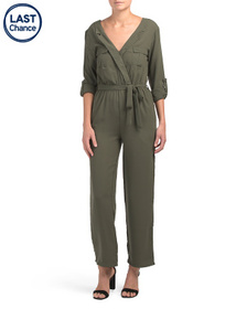 Juniors Utility Jumpsuit