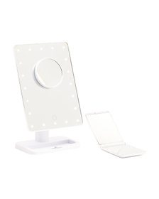 Touch XL LED Makeup Mirror With Compact Mirror
