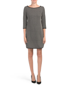 Double Knit Houndstooth Dress