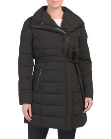 Kim Stretch Wrap Puffer Coat