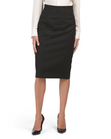 Stretch Pencil Skirt With Back Zipper