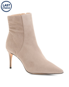 Made In Brazil Suede Pointy Toe Stiletto Heel Boot