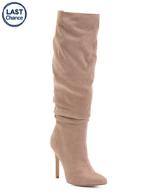 Knee High Pointy Toe Stiletto Heel Boots