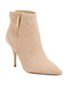 Suede Pointy Toe Booties