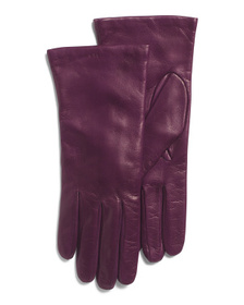 Leather Cashmere Lined Gloves