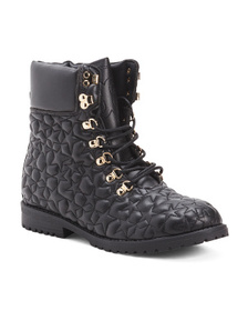 Quilted Combat Boots (Little Kid, Big Kid)