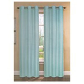 Set of 2 Textured Solid Grommet-Top Window Curtain