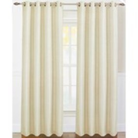 S&L Set of 2 Pleated Texture Faux Linen Grommet To