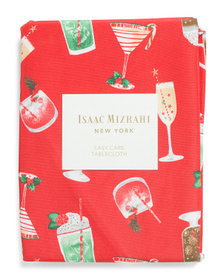 Holiday Cocktails Tablecloth