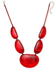 "Resin Statement Necklace, 21-1/2"" + 3"" extender, C"
