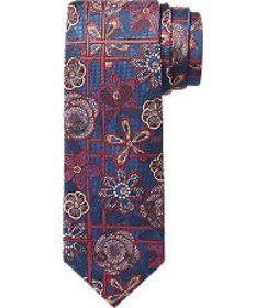 Jos Bank Reserve Collection Floral & Lattice Tie C