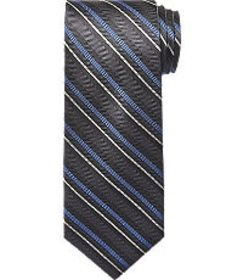 Jos Bank Reserve Collection Multi-Stripe Tie CLEAR