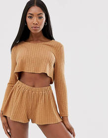 ASOS DESIGN mix & match lounge slouchy v neck top