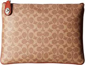 COACH Pouch in Coated Canvas