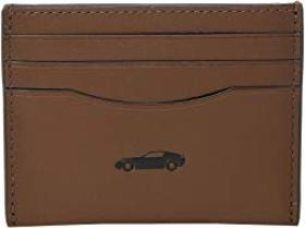 COACH Boxed Leather Card Case Featuring Motif