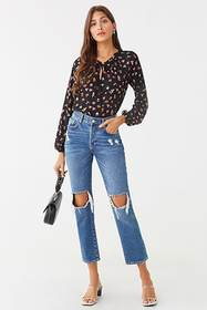 Forever21 Floral Print Top