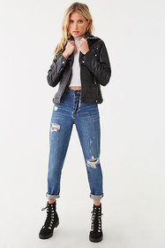 Forever21 Faux Leather Combo Jacket