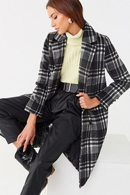 Forever21 Brushed Plaid Trench Coat