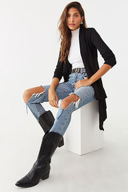 Forever21 Open-Knit Trim Cardigan