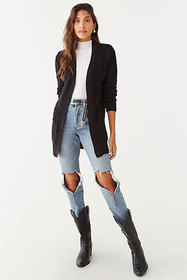 Forever21 Marled Open-Front Cardigan