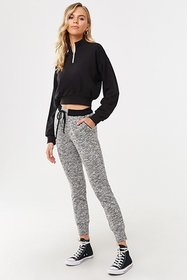 Forever21 Marled Contrast Trim Joggers