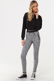 Forever21 Faux Leather-Trim Pants