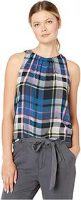 Vince Camuto Sleeveless Plaid Escape Blouse
