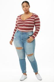 Forever21 Plus Size Striped Top