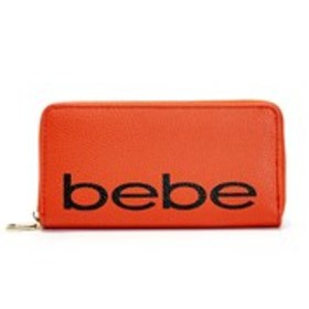 BEBE Bebe Fabiola Pebbled Logo Zip-Around Wallet
