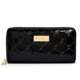 BEBE Bebe Dana Patent Logo Zip-Around Wallet