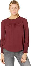Lucky Brand Smocked Cuff Top