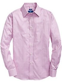 Egara Pink Windowpane Sport Shirt