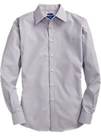 Egara Blue & Tan Check Sport Shirt