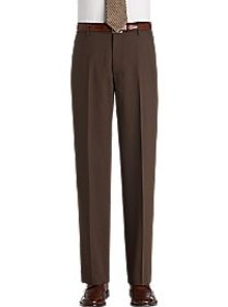 Pronto Uomo Couture Taupe Long Rise Dress Pants