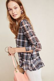 Anthropologie Avery Plaid Top