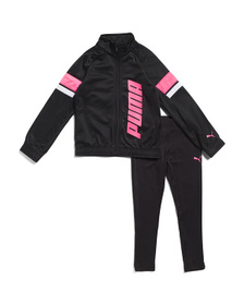 Little Girls 2pc Tricot Jacket And Leggings Set