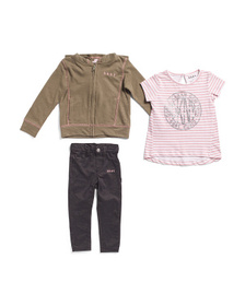 Toddler Girls 3pc French Terry Jegging Set