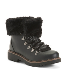 ESPRIT Hiker Booties With Faux Shearling