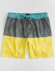 VALOR Laundered Blocked Charcoal Mens Volley Short