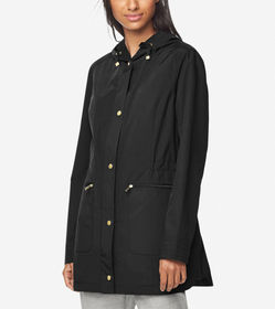 Cole Haan Quilted Lined Travel Rain Jacket