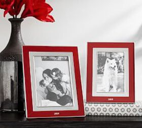 Pottery Barn 2019 Enamel Picture Frames - Red