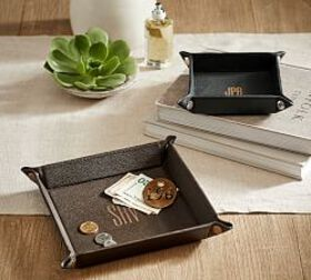 Pottery Barn Grant Leather Catchall